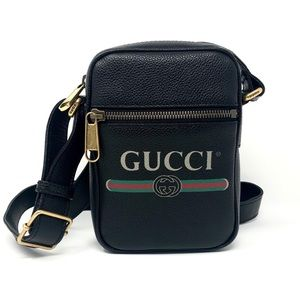 NIB Gucci Print Messenger Bag